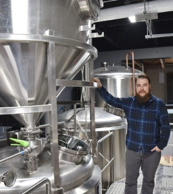 Chris Detrick, Level Crossing Brewing Company head brewer.