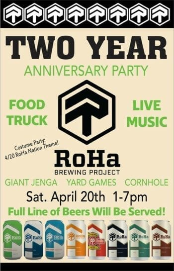Craft Beer Month - RoHa 2-Year Anniversary Party 04.20.19
