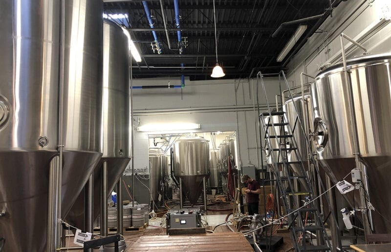 Several new tanks were brought in to the Shades Brewing facility when Park City Brewery moved in to share resources with the South Salt Lake brewery.