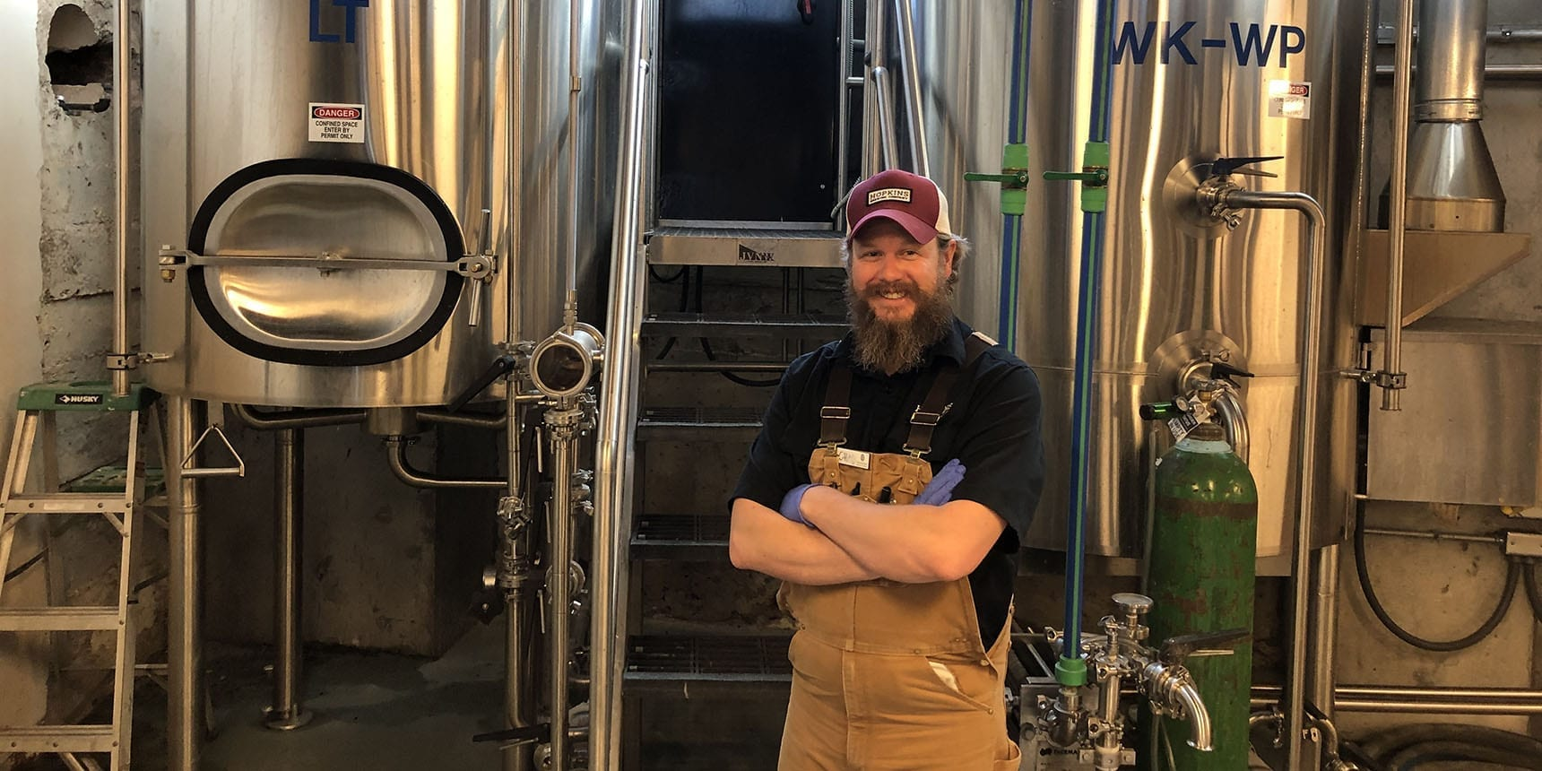 Chad Hopkins, brewer at Hopkins Brewing Co. in Sugar House.