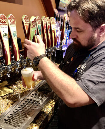 Bonneville Brewery - Dave Watson Pouring Cool Fuzz - Utah Beer News