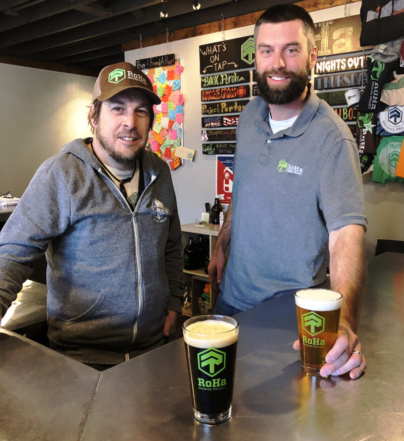 Chris Haas, left, and Rob Phillips, of RoHa Brewing Project.