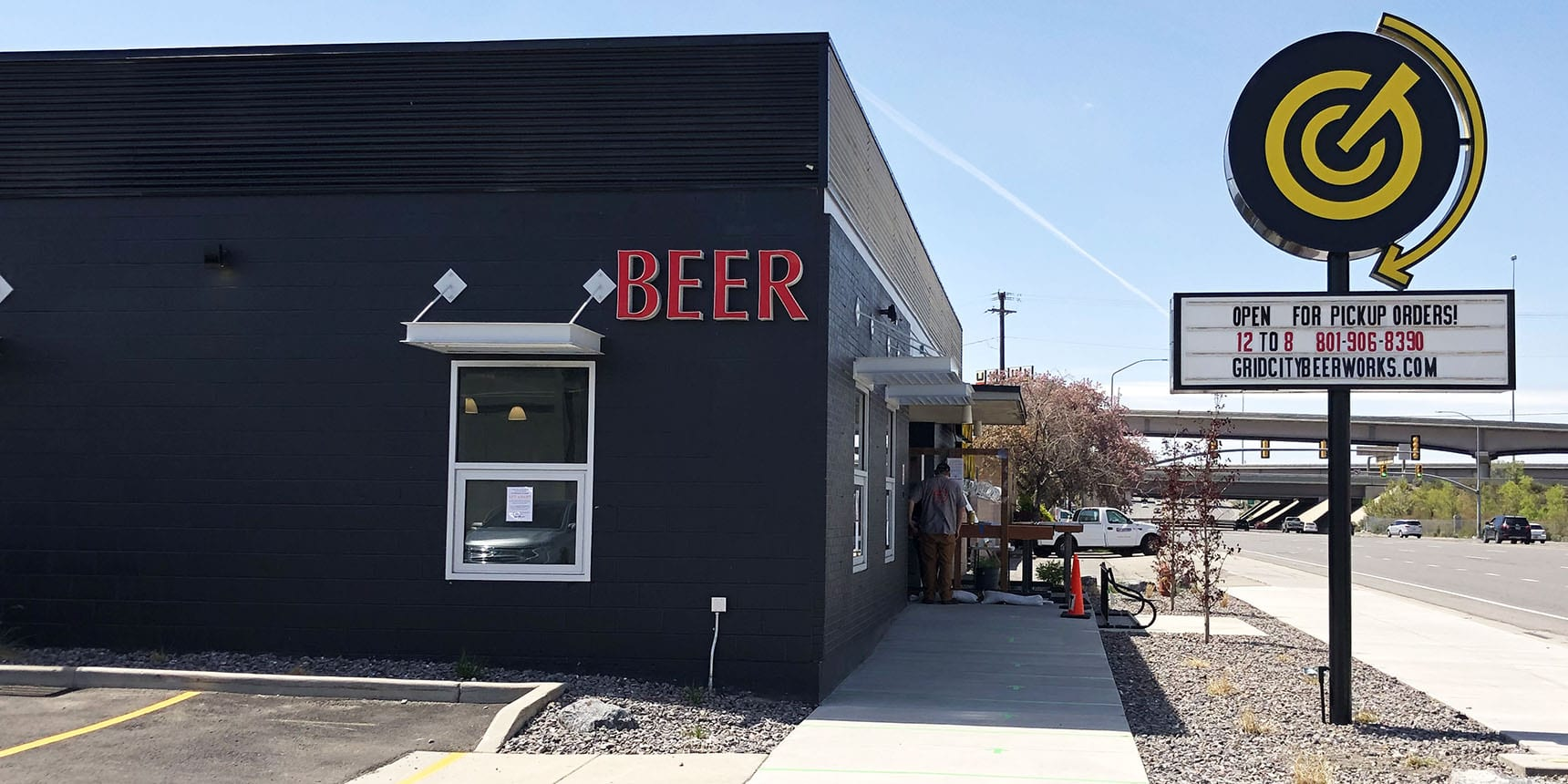 Grid City Beer Works opened for to-go food and beer orders on April 23, 2020.