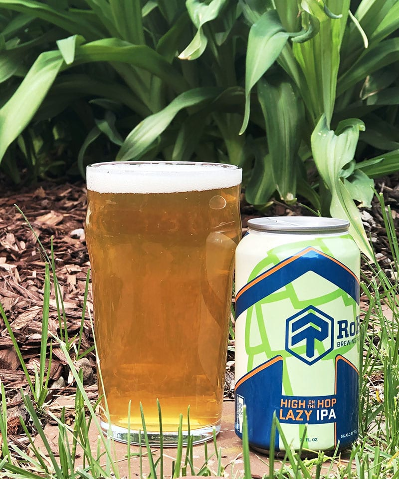 "High on the Hop, a 5% ""lazy"" IPA that's bursting with tropical fruit aromas and flavors."