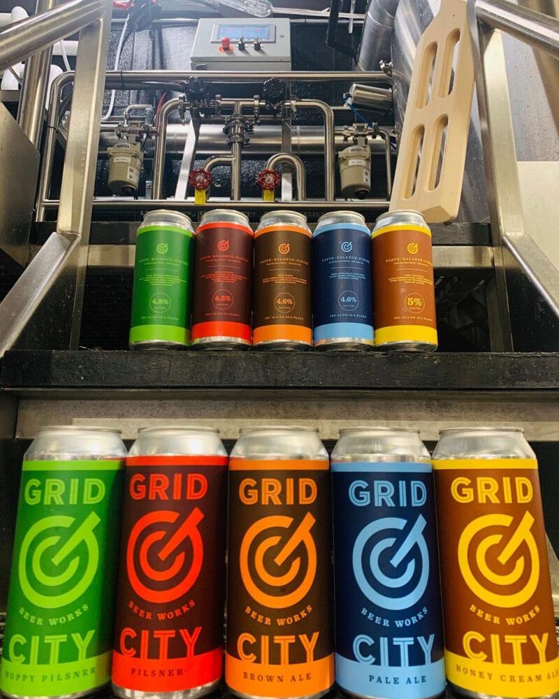 The opening lineup of Grid City Beer Works beers. Photo Credit: Grid City Beer Works