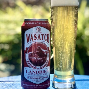 """Landbier, which translates to """"country beer,"""" pays homage to Imboden's Swiss heritage. It features Southern German-grown floor-malted barley, Swiss Tettnang hops and a Zurich lager yeast. Imboden even had his cousin in Interlaken ship water samples so he could match the water profile in Park City."""