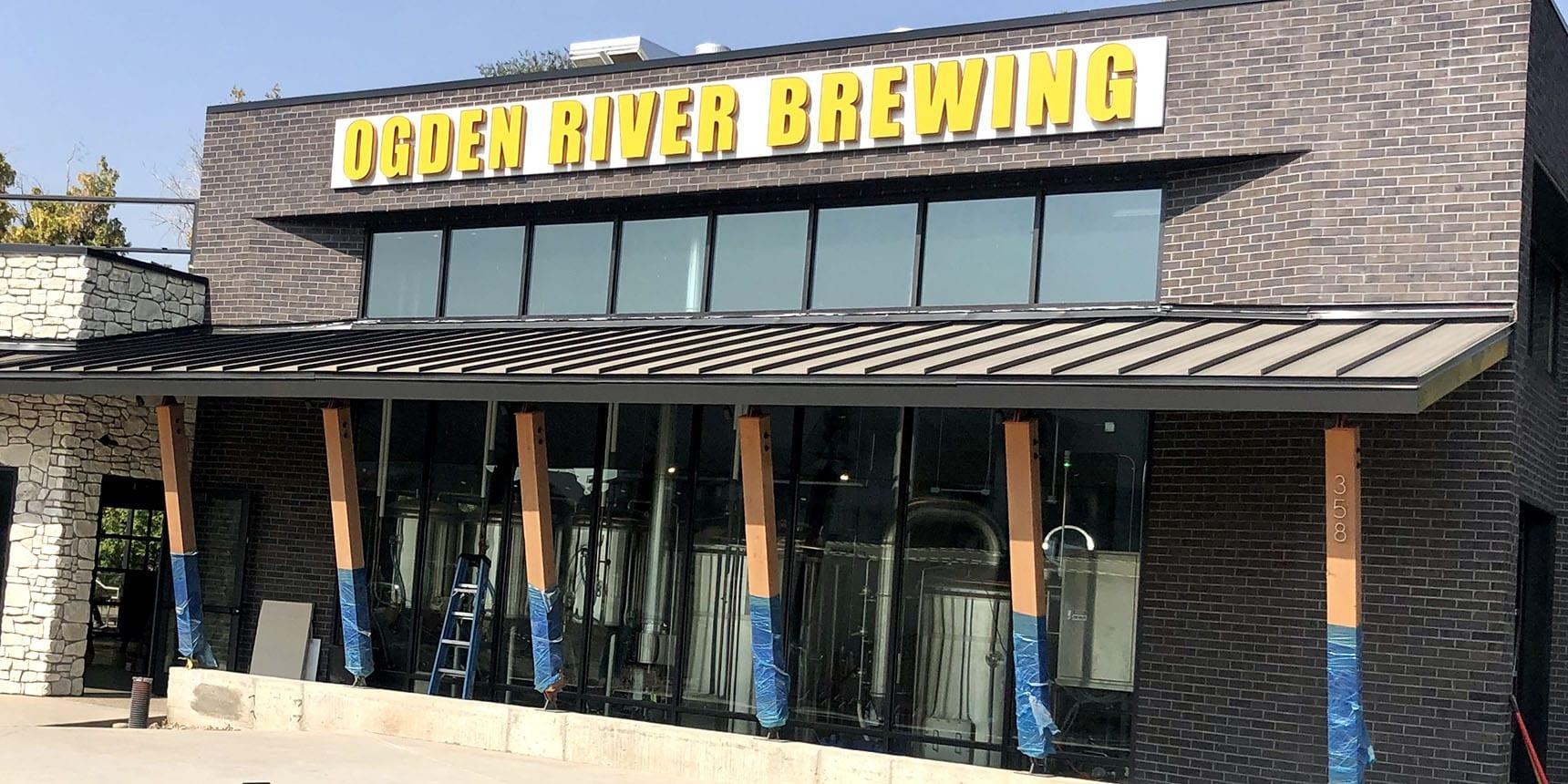 Exterior of Ogden River Brewing - Oct. 6, 2020