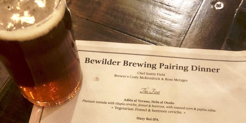 Bewilder Brewing - Beer Pairing Dinner - Featured 2