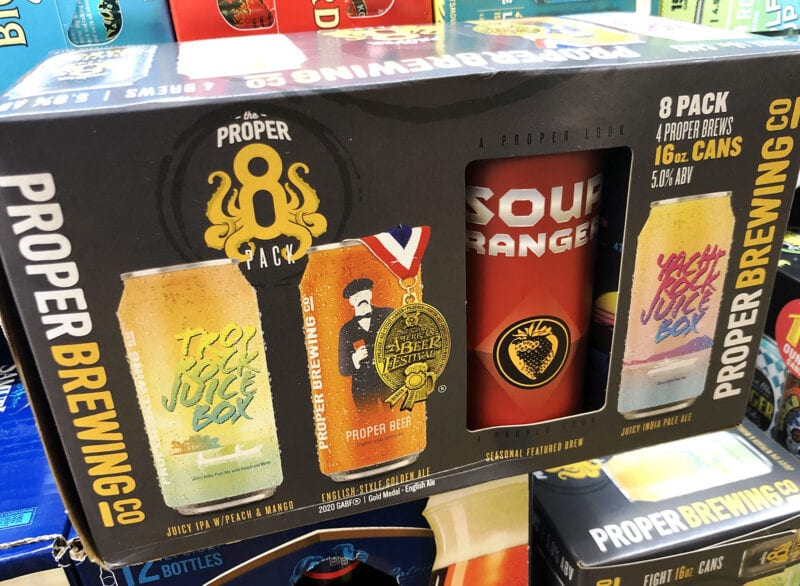 Proper Brewing Co. released a mixed pack in 2021. The eight-pack of 16-ounce cans includes a selection of the Salt Lake City brewery's popular brews, as well as space for a rotating beer.