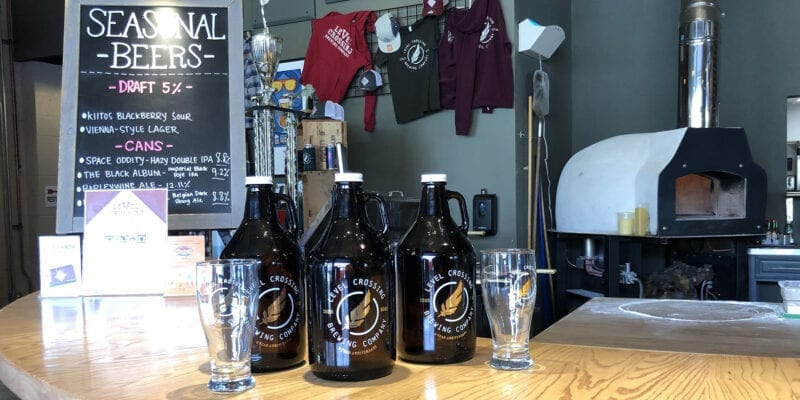 Level Crossing Brewing celebrated its two-year anniversary on March 30, 2021 with commemorative glassware and the re-release of Space Oddity, a Hazy Double IPA that's part of the Red Feather Small-Batch Series.