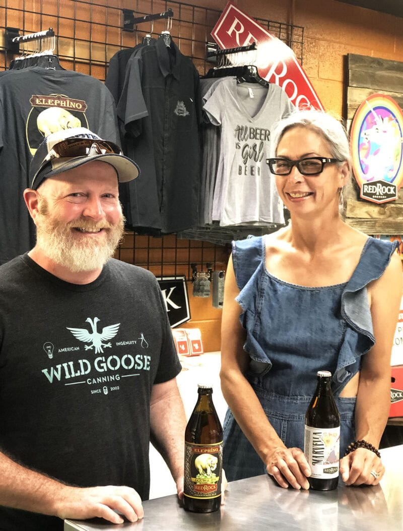 Red Rock Head Brewer Kevin Davis and Sales Manager Erika Palmer