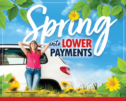 Spring into Lower Payments Graphic