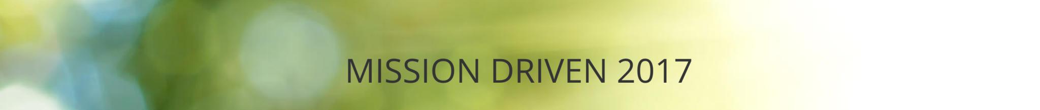 Mission Driven 2017