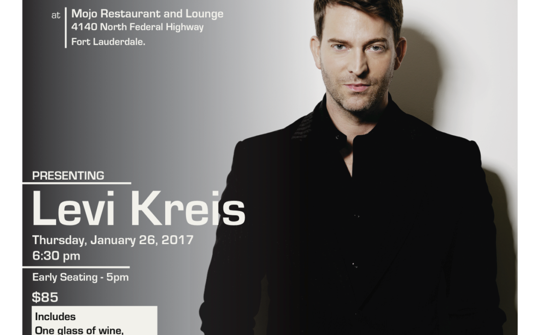 Cafe Society at Mojo's Restaurant with Levi Kreis