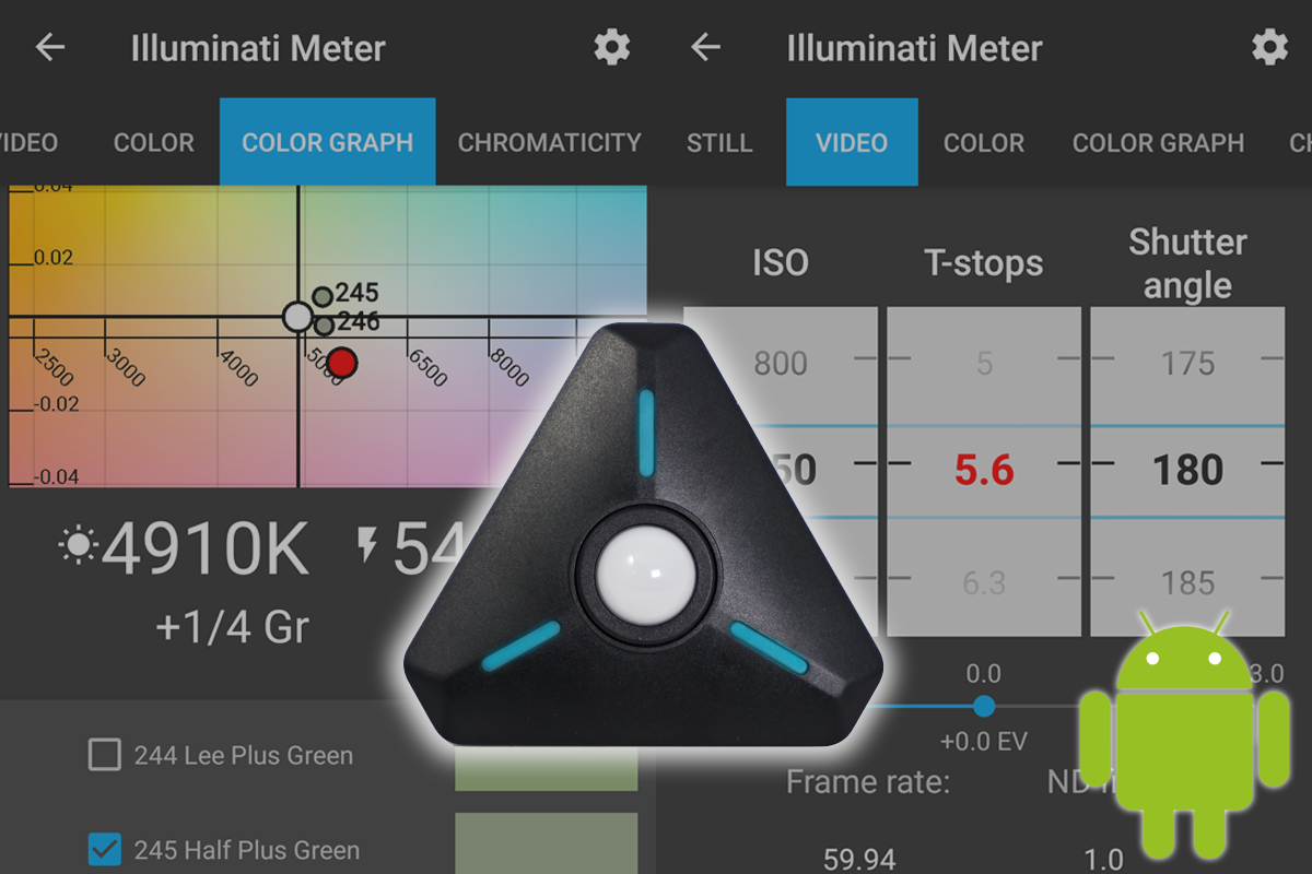Illuminati Meter, App screens, Android Update