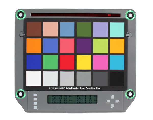 Isolight chart holder with Macbeth ColorChecker