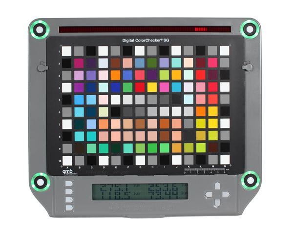 Isolight chart holder with Digital ColorChecker SG