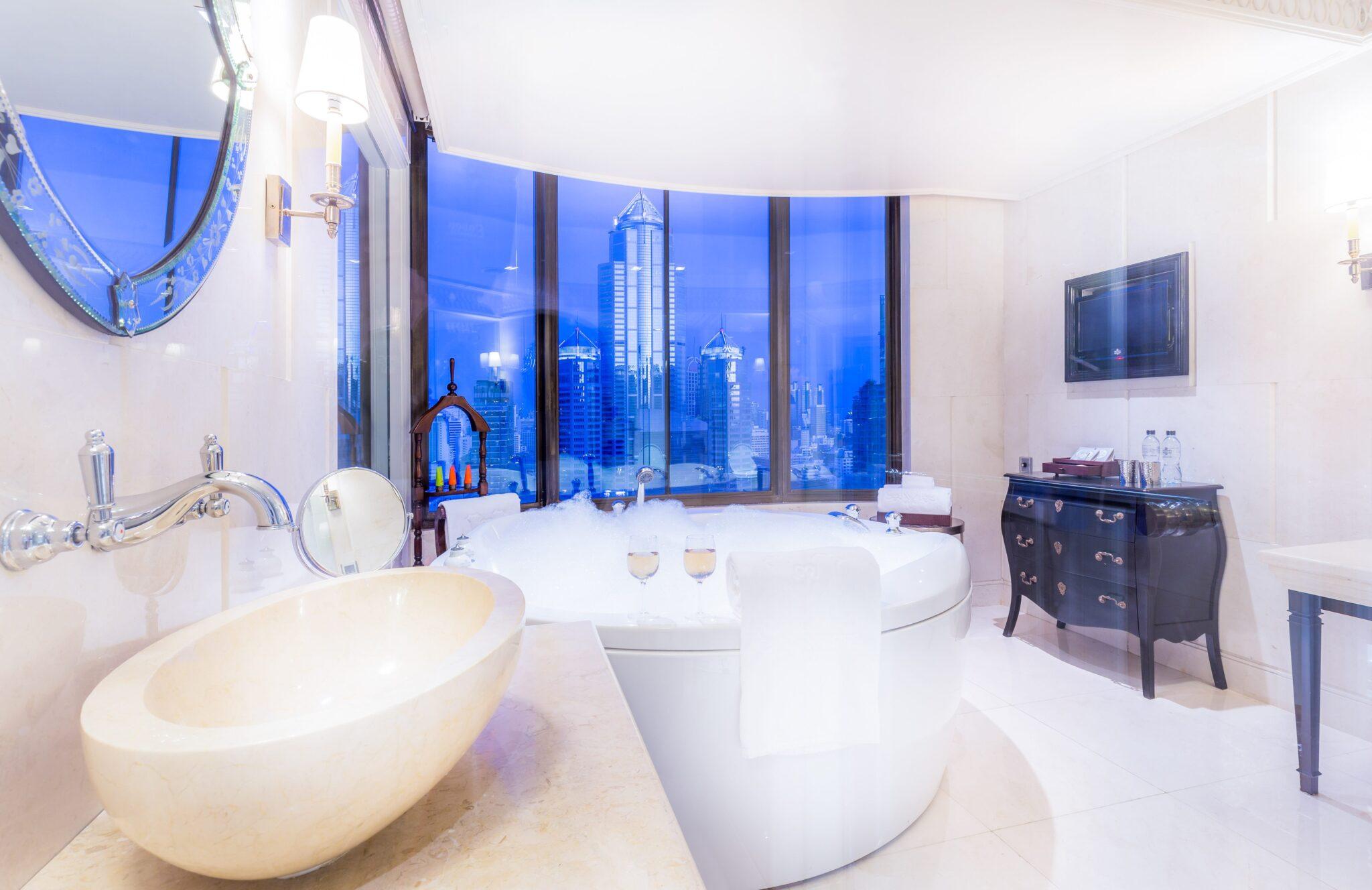 Paranim Penthouse Bathroom at Hotel Muse Bangkok Thailand