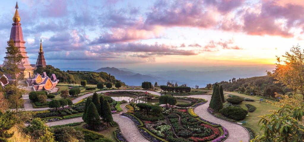 Sunset Over The Highest Point of Thailand, Doi Inthanon