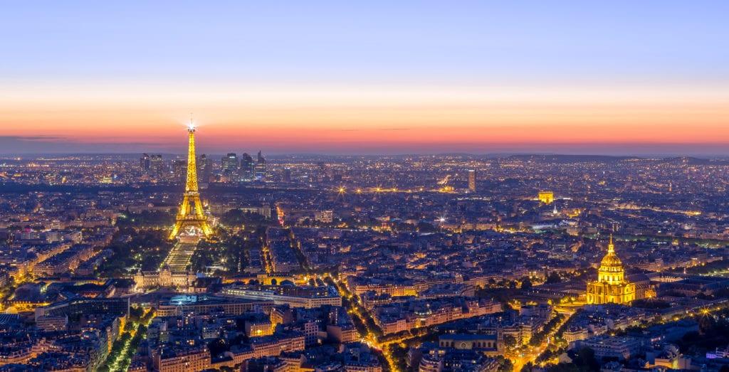 Paris Sunset From Montparnasse Tower