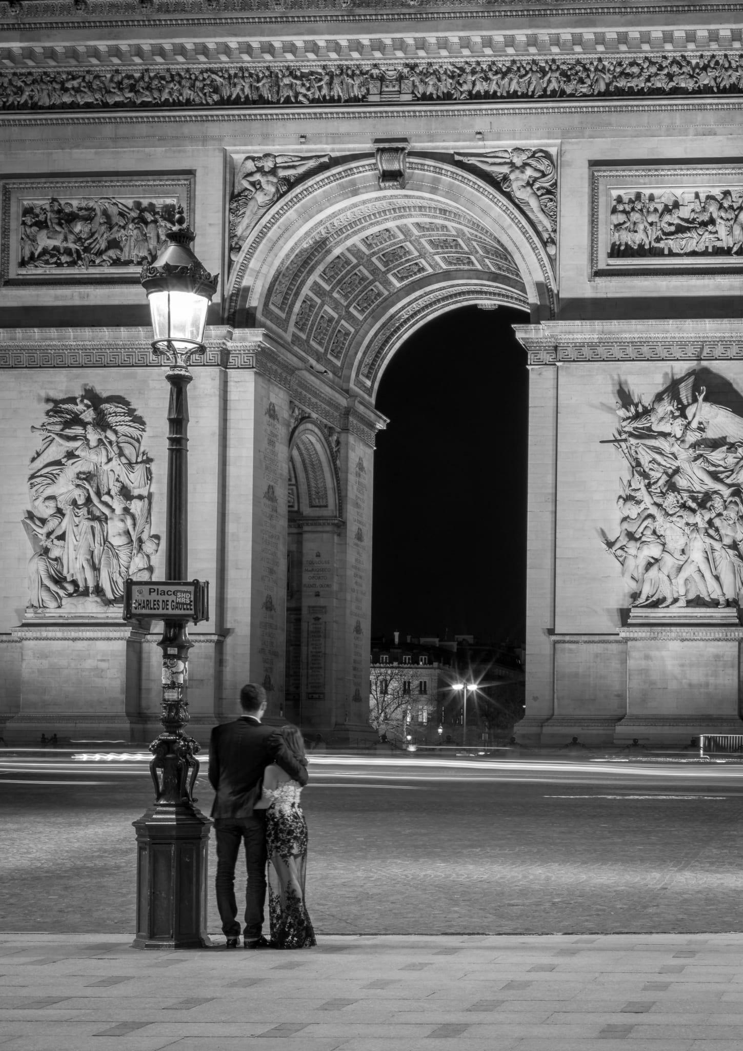 Paris, Arc de Triomphe, Couple