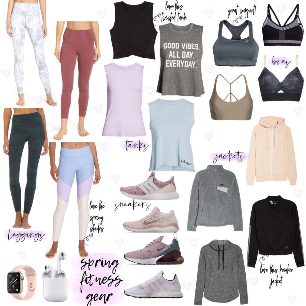 wellness wednesday .6: Spring Workout Gear + Current Workout Schedule | adoubledose.com