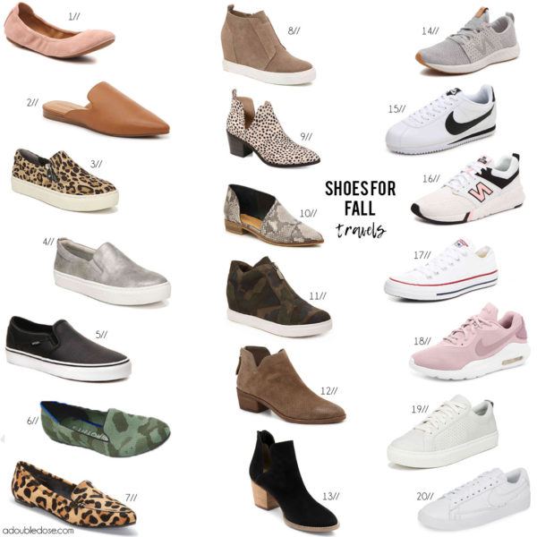 Comfortable Shoes For Fall Travels