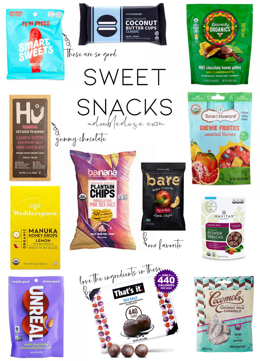 lifestyle and fashion blogger alexis belbel sharing healthy sweet snacks that are vegan and organic : bare apple chips, plantain chips,   adoubledose.com