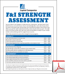 F&I Strength Assessment