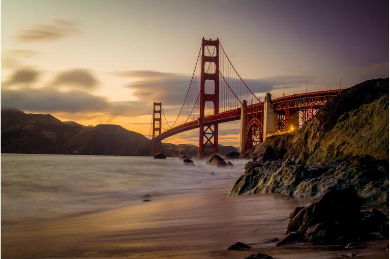 Golden Gate Bridge seen from afar