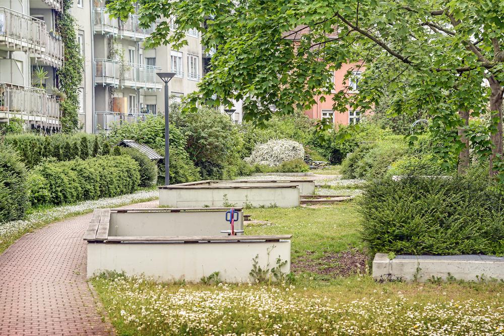apartment building interior park