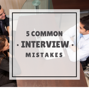 common interview mistakes