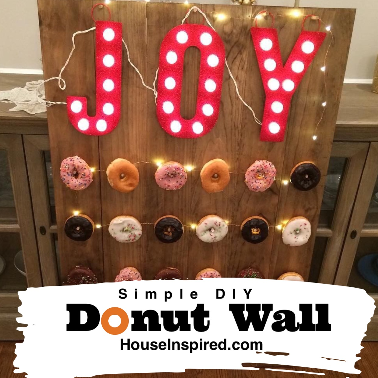 Easy DIY Donut Wall