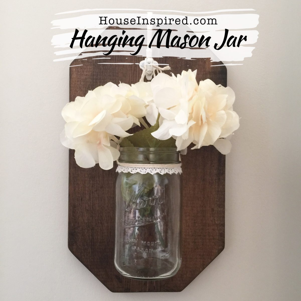 DIY Hanging Mason Jars