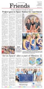 Click on the copy of The Jackson Herald 'Friends' section front from August 1, 2018, to see a larger version.