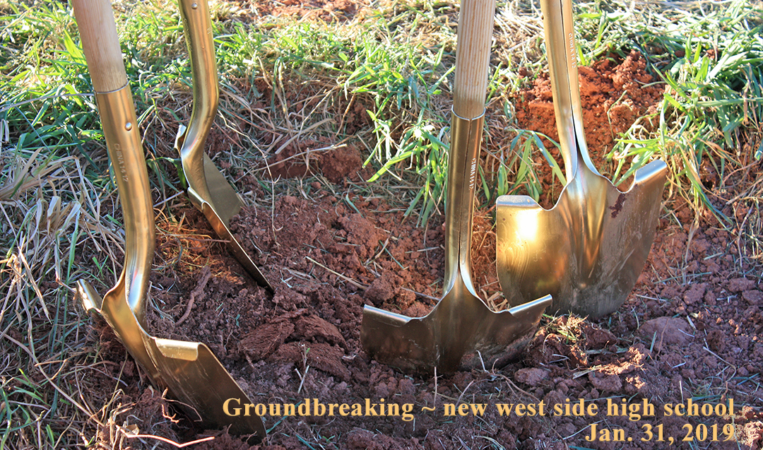 Shovels put to good use at the official groundbreaking for new west side high school - 1-31-19