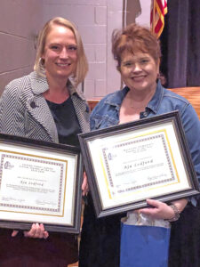 Aja Ledford, Jackson County's Teacher of the Year, with her principal, Dr. Michele Archibald - Maysville Elementary School