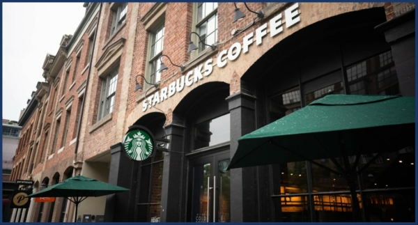 Exterior Image of Starbucks Coffee Store Sign