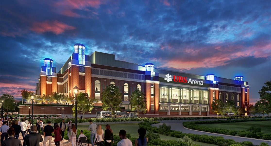 Rendering of UBS Arena at Belmont Park