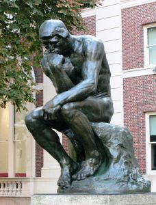 Statue of The Thinker by Auguste Rodin