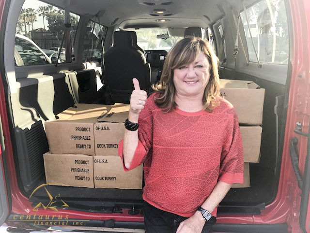 Centaurus Financial and Employees Donate Turkeys