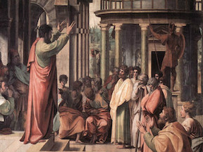 Peter Preaches the Life, Death, Resurrection