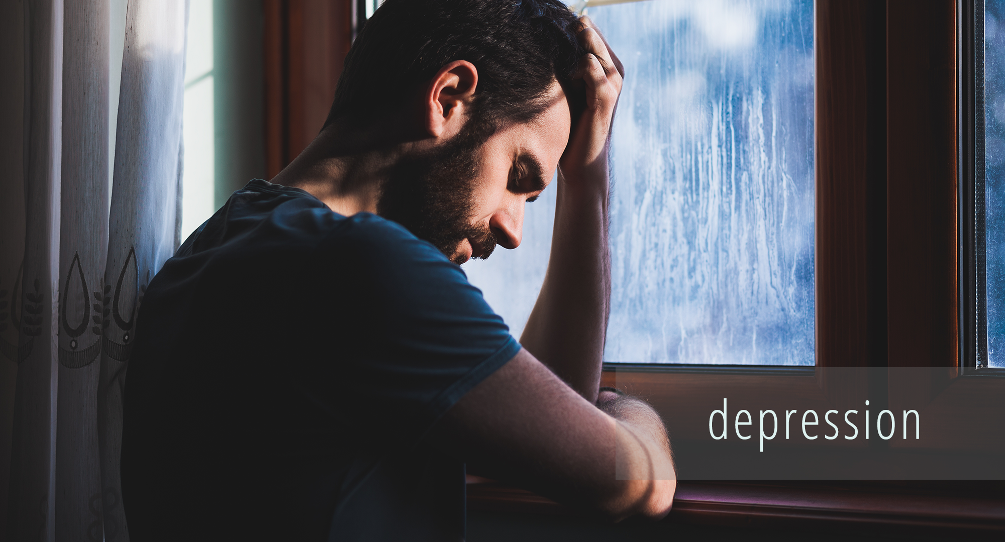 man suffering from anxiety and depression