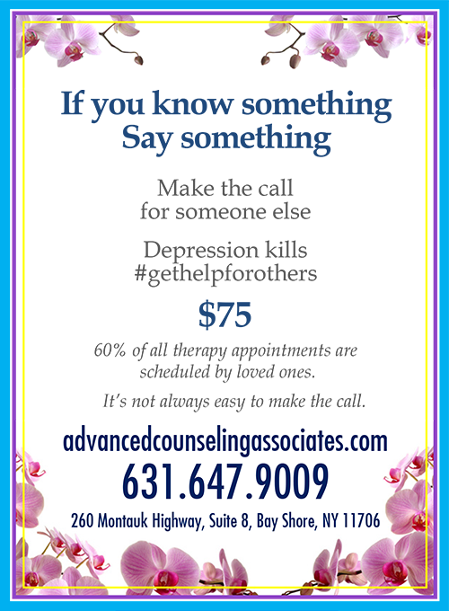 If you know something say something. Make the call for someone else. Depression kills.