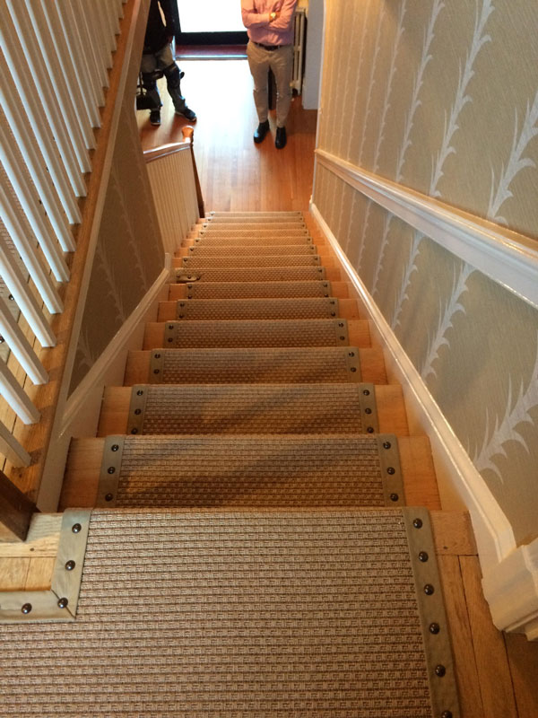 Rugged Modern Beige Hall and Stairs