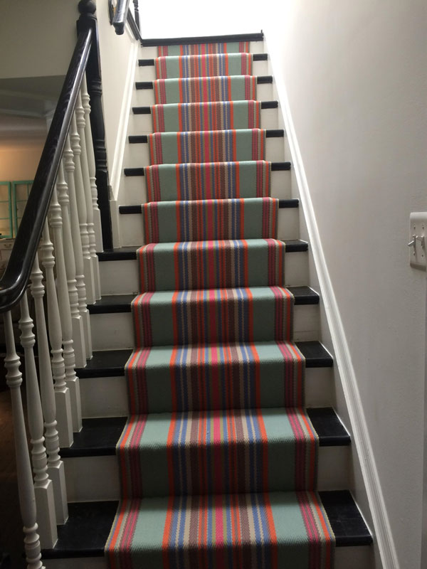 Multiple colors of Stripes Stair Runner