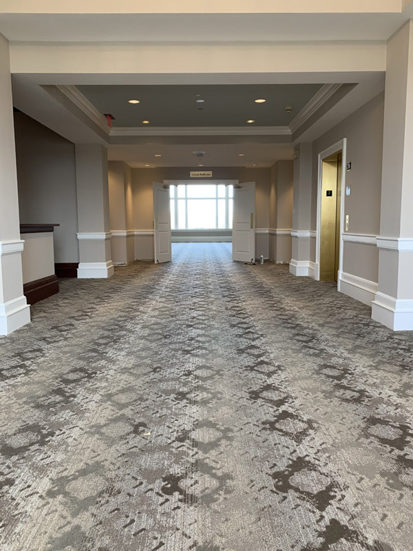 Corporate Venue Carpet for Large Spaces - Grey Texture by Farsh Carpets