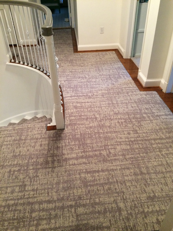 Neutral Colored Stair and Landing Carpeting by Farsh Carpets