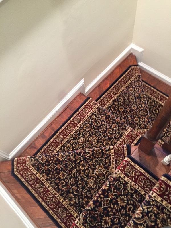 Decorative Filigree Pattern Staircase Carpeting by Farsh Carpets & Rug