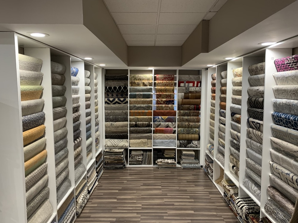 Farsh Carpets & Rugs Show room of Rugs in Alexandria Virginia